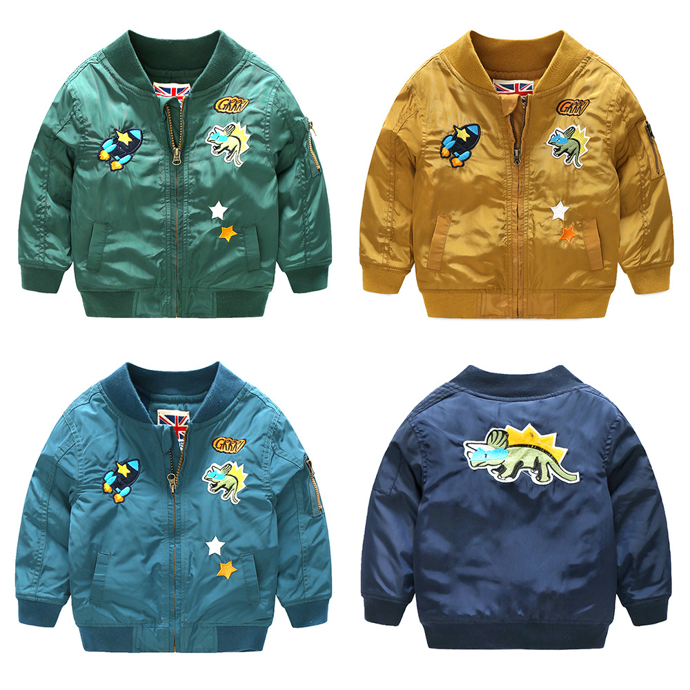 New autumn and winter brand children's clothing, boy's children's cartoon taped cloth embroidered cotton coat cotton jacket футболка zoo york corked and taped black