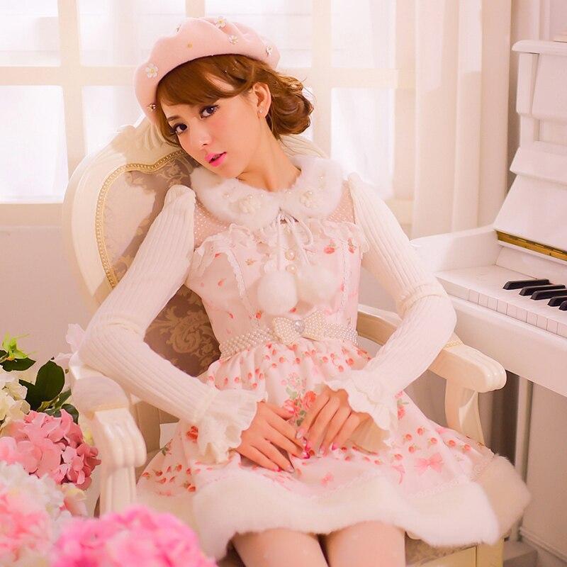 Sweet Japonais Style Lolita Balle Pluie Original Cassé Dressc22cd7222 Princesse De Peluche En Belle Hiver Nouvelle Robe Sucrerie Col Laine dxSn00pq8