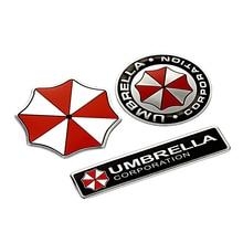 3D Car Stickers Aluminum Umbrella Corporation Resident Evil Decals Emblem For BMW AUDI VW Volkswagen Ford