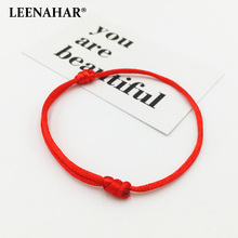 ФОТО leenahar 10pcs kabbalah lucky string wholesale classic handmade chinese red string bracelets adjustable lucky rope for gifts