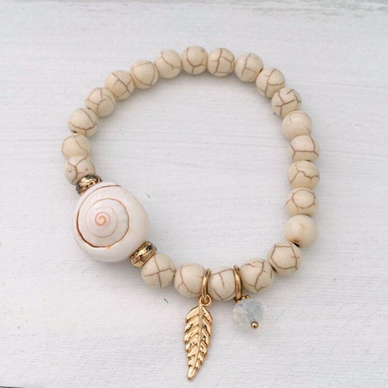 Dongmu Jewellery Bohemian Style Fashion Charm Bead String Bracelet Stretch Combination Natural Stone Girl Bracelet