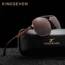 KINGSEVEN 2019 Homens Da Marca de Óculos De Sol De Alumínio HD UV400  Espelho Masculinos Mulheres Óculos de Sol Para Homens Polar. af64a04c4f