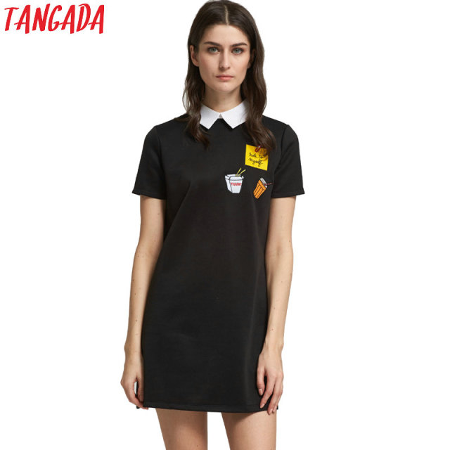88439a8a94 Tangada vestidos coreano roupas femininas mini vestidos black Friday shirt  dress summer manga curta designer de
