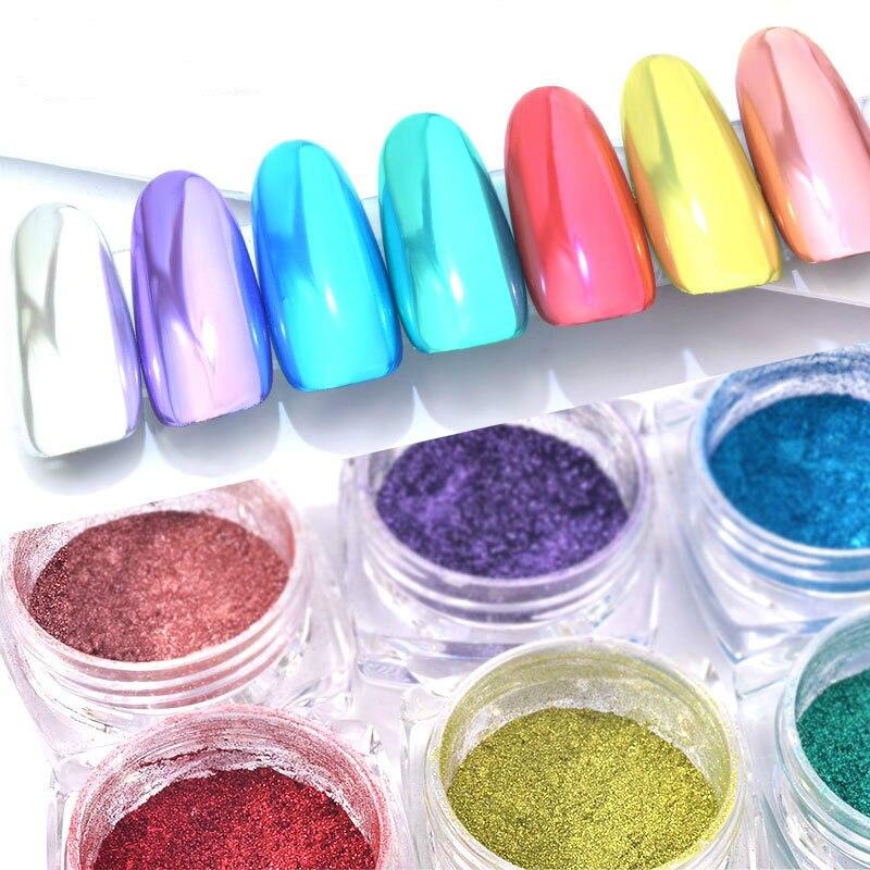 100% QualitäT 0,3 Gr/schachtel Nail Art Glitter Chrom Nagel Pigment Staub Shiny Dekorationen Für Magie Spiegel Wirkung Nagel Pulver Nails Art & Werkzeuge Schönheit & Gesundheit
