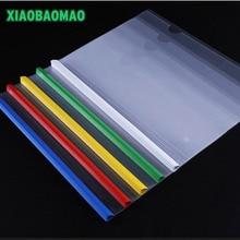Color-Report-Cover Spine-Bar/folder Transparent PP 10pcs/Lot 14C Pp-Quality Thick
