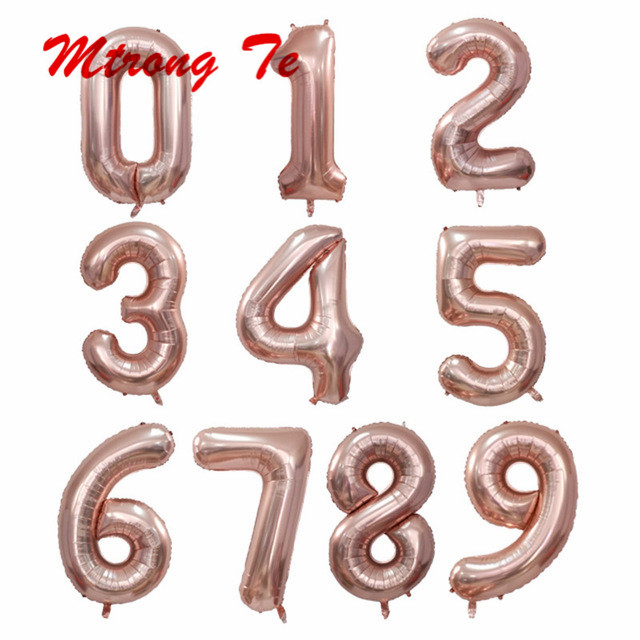 10pc 40 Pink Gold Silver Blue Rose Gold 30th Birthday Balloon 0