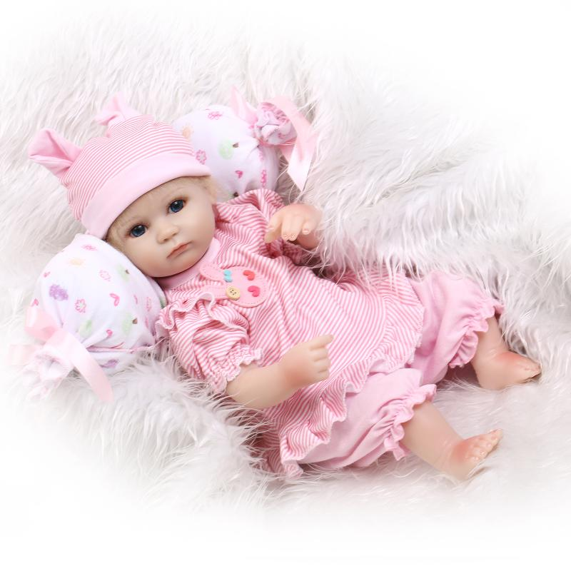 Cute Mini Reborn Dolls Silicone Reborn Baby Dolls Educational Toys for Children's Gift,15  Lifelike Baby Doll with Clothes short curl hair lifelike reborn toddler dolls with 20inch baby doll clothes hot welcome lifelike baby dolls for children as gift