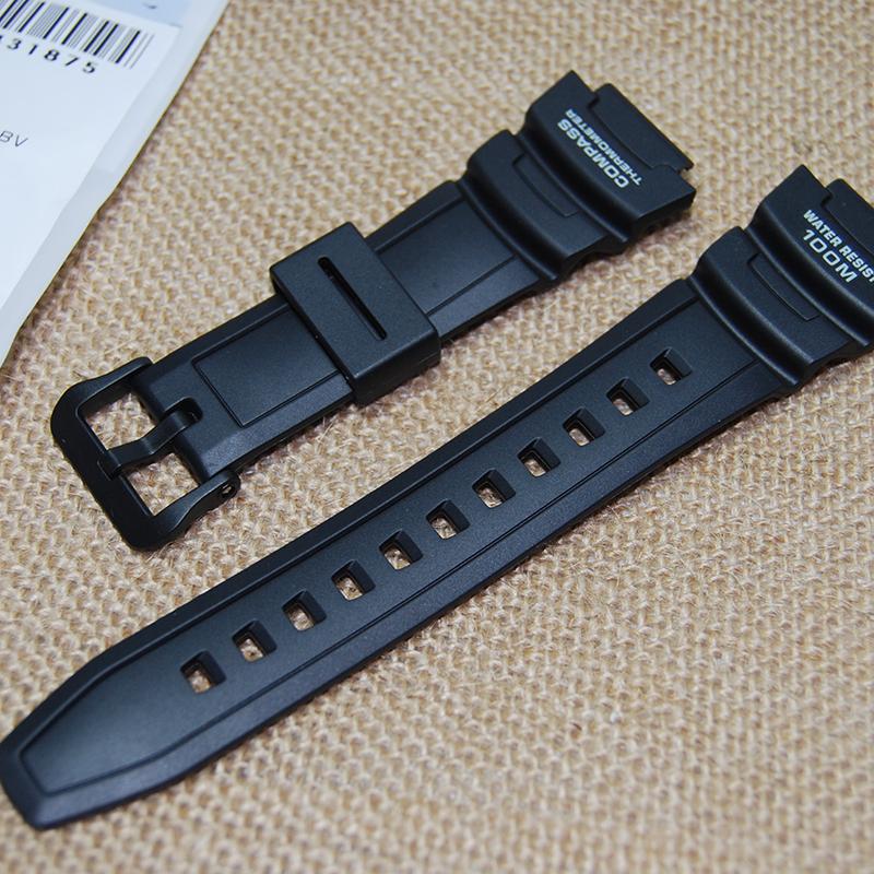 Prix pour Nouveau Noir En Caoutchouc de Silicone Bracelet étanche pour casio sgw-500h pu bracelets