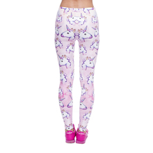 Women's Elastic Pink Unicorn Leggings