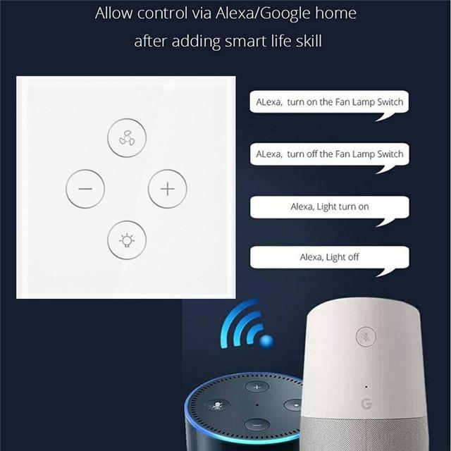 Smart scon el Interruptor táctil de la UE funciona con Alexa Google Home soporte temporizador más brillante Control de automatización del hogar
