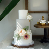 SWEETGO 3 яруса цветок, Фондант, пирожное Искусственный Поддельные глина модели розы украшения дома для витрина магазина украшения
