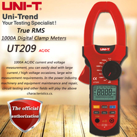 UNI T UT209 AC DC 1000A Цифровой Токоизмерительные True RMS Амперметр Сопротивление/частота/диода Тесты Аналоговый гистограмма