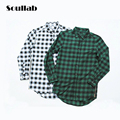 2016 new fashion high quality mens hip hop top shirts swag red black green plaid justin bieber brand rapper clothing gold zipper