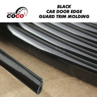 97ft 30m High Quality Black 5x8mm U Style Gear Panel Door Guards Edge Protector Air Vent Grille Switch Rim Moulding Trim Strip
