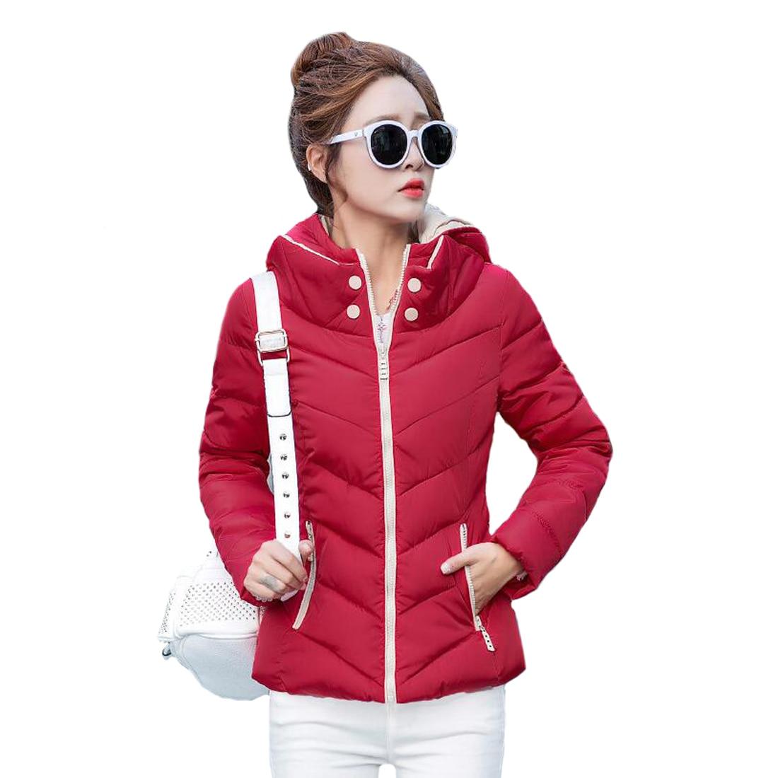 Tengo New Slim Hooded Cotton Padded Female Women Winter Casual Outwear Coat Jacket