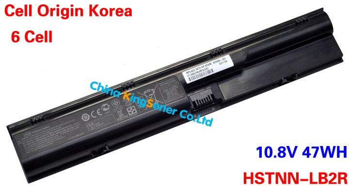 47WH Korea Cell Original Quality New Laptop Battery For HP 4330S 4331S 4430S 4431S 4435S 4436S 4530S 4730S 4540S HSTNN-LB2R PR06 korea cell original new laptop battery for hp elitebook 2170p hstnn ub3w hstnn ob3l hstnn yb3l hstnn yb3m mi06 11 1v 48wh