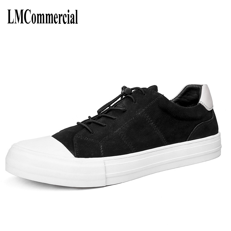 Men casual shoes of Korean all-match flat pedal British teenagers all-match leather shoes breathable sneaker fashion boots men the fall of new men s casual shoes leather trend of korean youth all match low men shoes