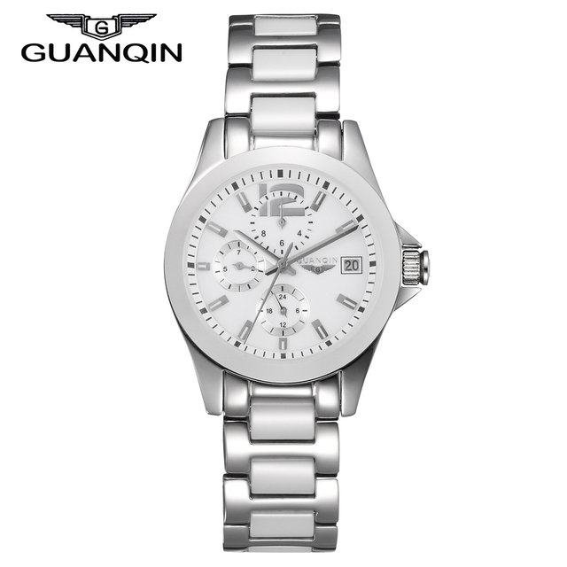 Original GUANQIN Women Automatic Watches Top Brand Luxury Ceramic Fashion Ladies Wrist watches Female Waterproof Clock