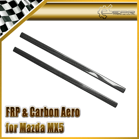 Car-styling For Mazda MX5 NA NB Carbon Fiber Side Quarter Trim In Stock epr car styling for mazda rx7 fc3s carbon fiber triangle glossy fibre interior side accessories racing trim