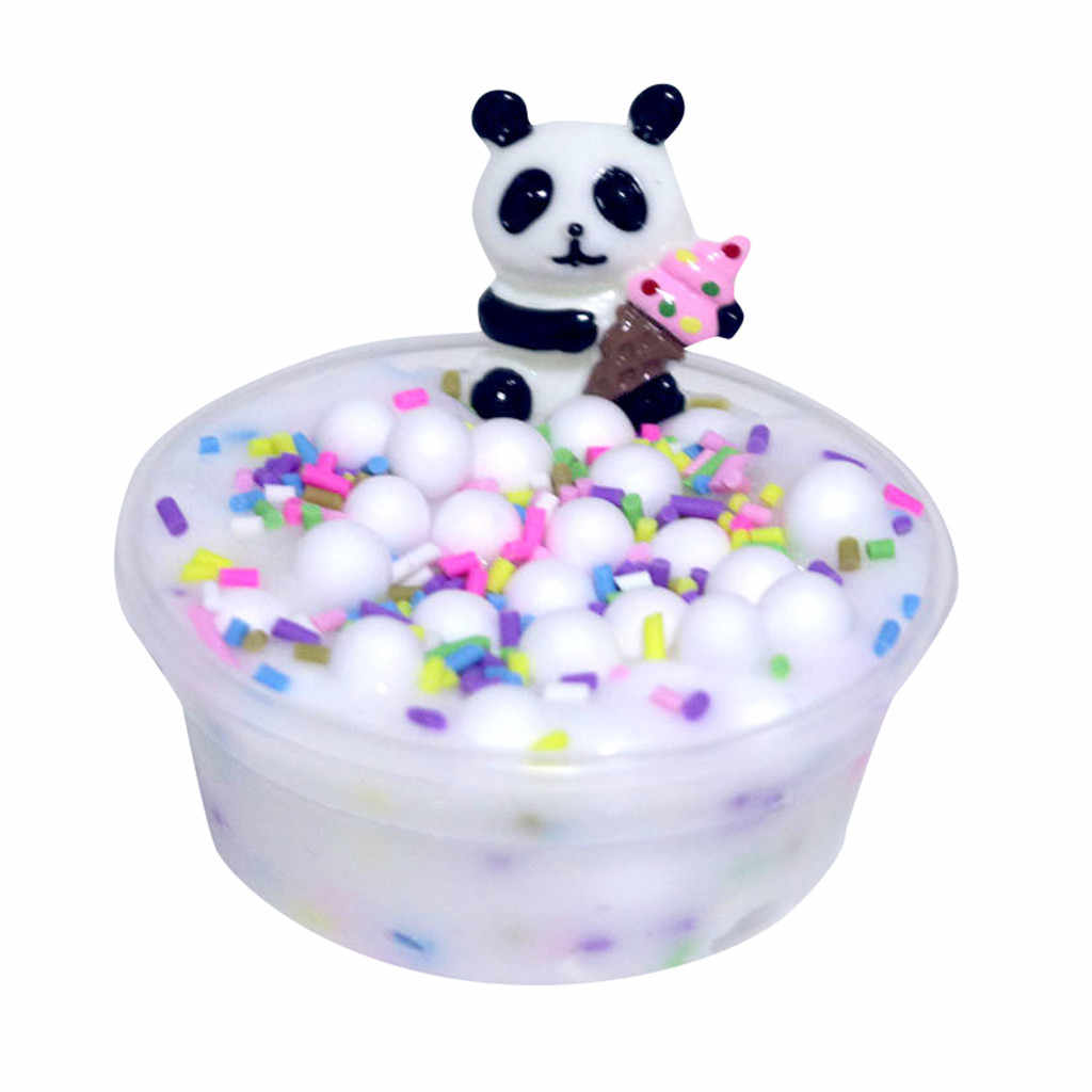 Panda Beads Slime Clay Sludge Toy Kids Adult Stress Relief Plasticin Toys Gift