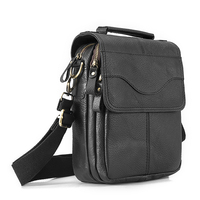 Quality Leather Male Casual Design Shoulder Messenger bag Cowhide Fashion Cross body Bag 8 Tablet Tote Mochila Satchel bag 144b