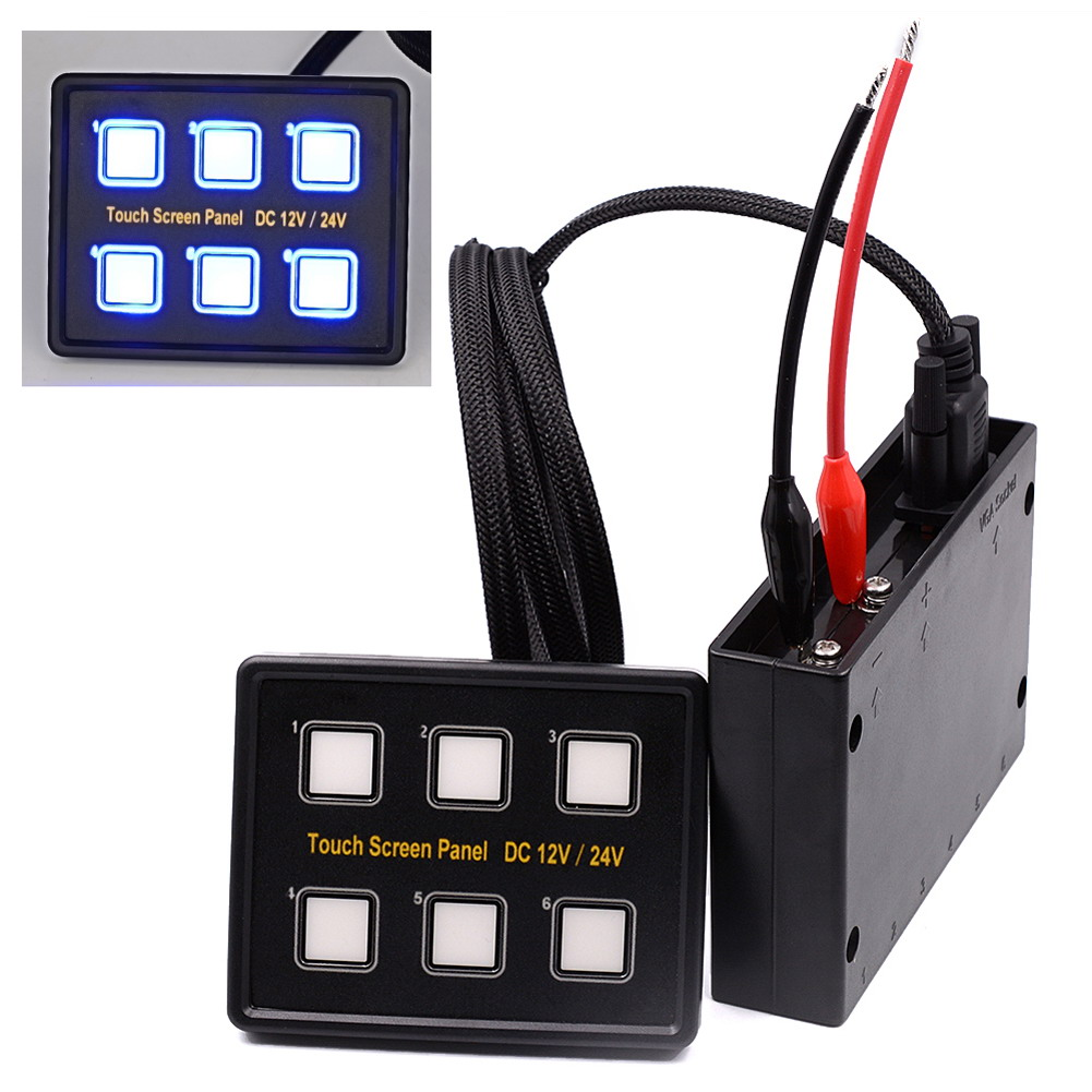 Dc 12v 24v 960w 6 Gang Led Switch Panel Capacitive Touch Screen 12 Volt Circuit Breaker 4 Position Getsubject Aeproduct