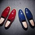 Nuevo 2016 Moda Hombre Zapatos de Cuero Planos de Los Hombres Zapatos Bajos de los hombres Zapatos Oxford