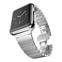 Ban nhạc cho Apple xem 42 mét 38 mét Bướm Clasp Thép Không Gỉ liên kết Vòng Đeo Tay Strap cho Apple xem Series 3/2 watchband