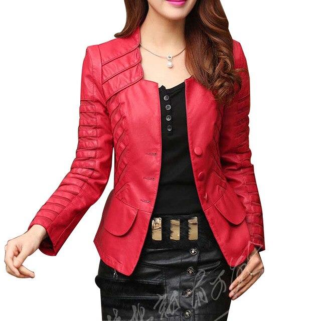 2017 мода Осень зима женская плюс размер pu кожаные куртки молния мотоцикл Лоскутное С Длинным Рукавом пальто CO11