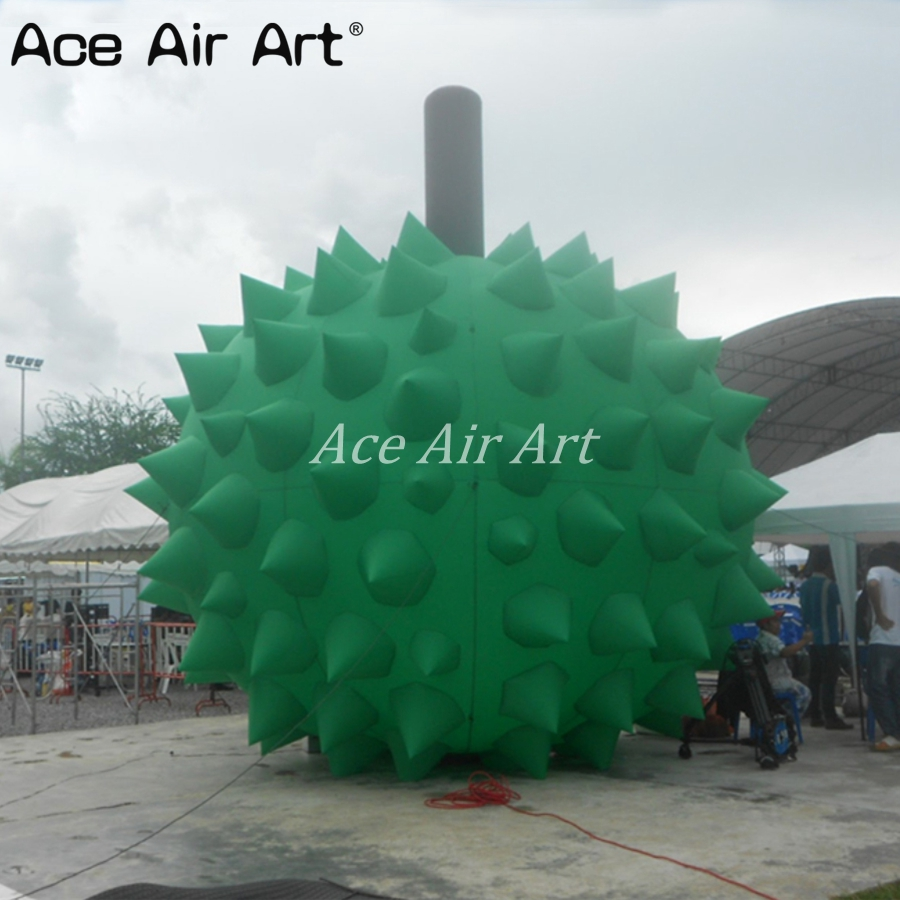 Jackfruit gonflable de publicité verte géante extérieure/ananas gonflable pour la décoration
