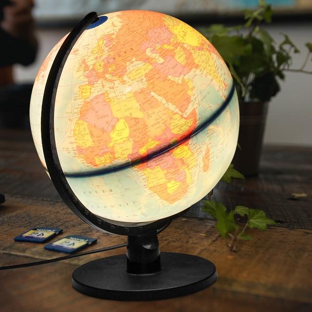 25cm 110v word earth globe map desktop decor geography educational