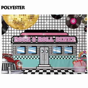 Image 2 - Funnytree photographic background rock roll diner dance disc spotlight food photography backdrops photo photocall photobooth