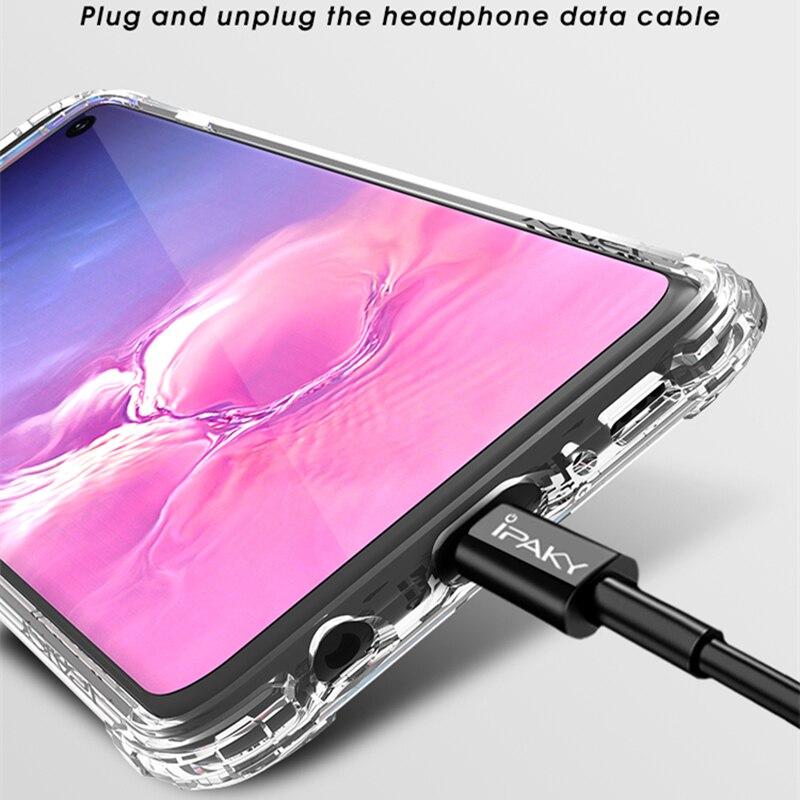 Samsung Galaxy S10 Case IPAKY S9 S9 Plus- ի վերադառնալ TPU - Բջջային հեռախոսի պարագաներ և պահեստամասեր - Լուսանկար 3