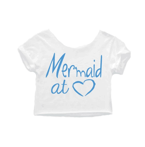 5c82c03085fc1 Women Mermaid shirt mermaid cropped tops mermaid at heart