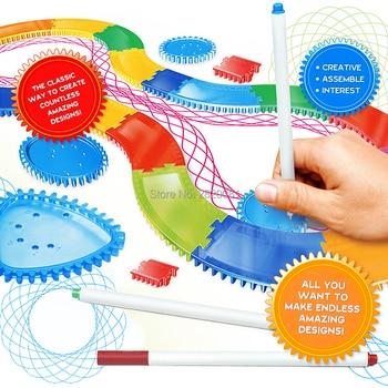 Spirograph Raylı Araya çizim Kiti 31 Adet Boya Boyama Oyunu