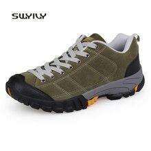 SWYIVY/походная обувь; мужские кроссовки; нескользящие водонепроницаемые; Новинка года; открытый светильник; сезон весна-осень; Мужская Спортивная обувь для путешествий