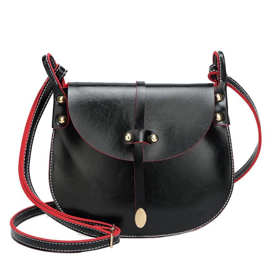 Women Crossbody Bag Leather Messenger Womens Flap Bag Chain Strap Female Shoulder Bag Lay Crossbody Bags Saddle Messengers#23