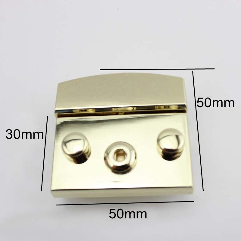 Snap Nouveau Main À 20 silver Sacs 50x50mm Métallique Lock Or Closured Couleur Poussé Pcs Remplacement Light Clé Lumière Gold Argent 8R77xZw4qA
