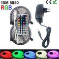 RiRi no SMD RGB LED Luz de tira de 5050, 2835 10 M 5 M luz LED rgb LED cinta de cinta flexible controlador DC 12 V adaptador conjunto