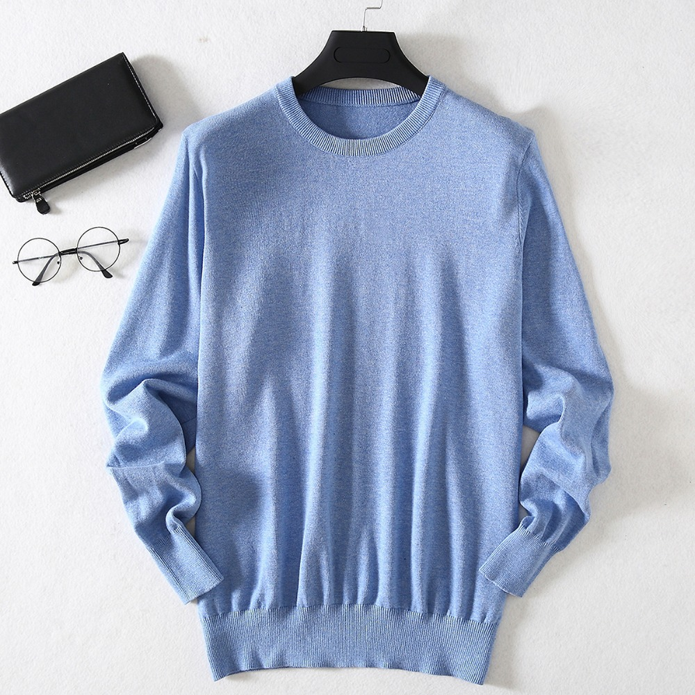 ZHILI Men's Pullover Sleeve Long Sweater 100% Cotton