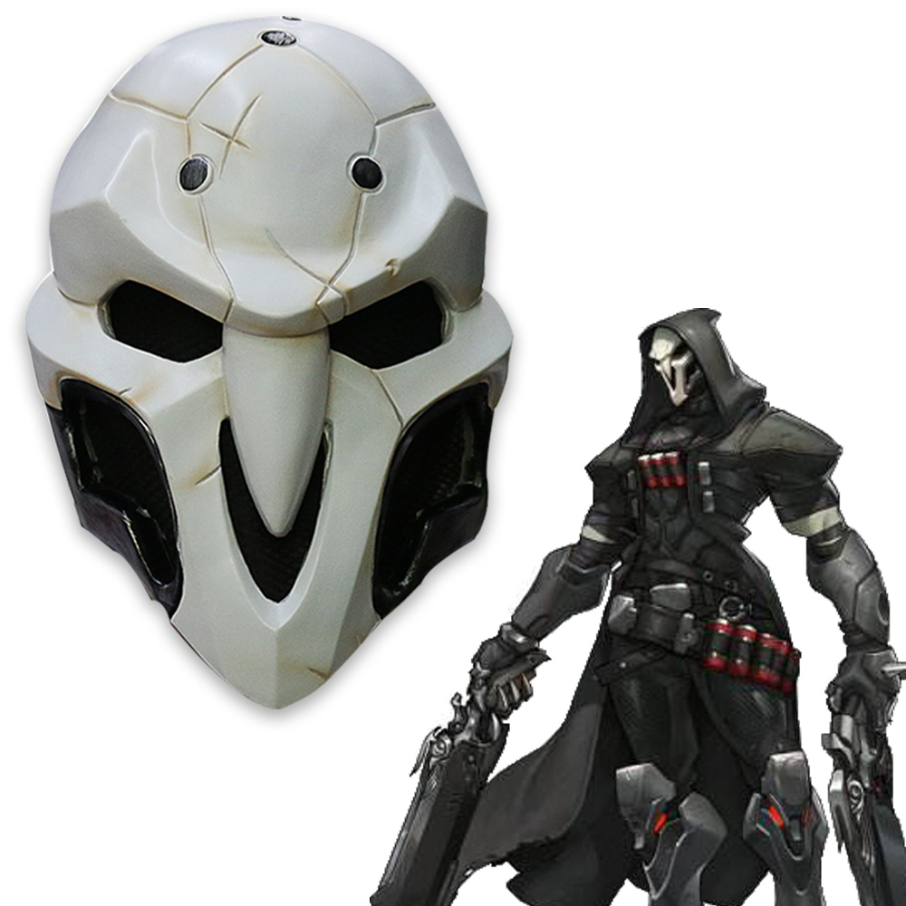 Högkvalitativ övervakt Game Mask PVC Cosplay Reaper Maskhjälm Halloween Reaper Party Mask