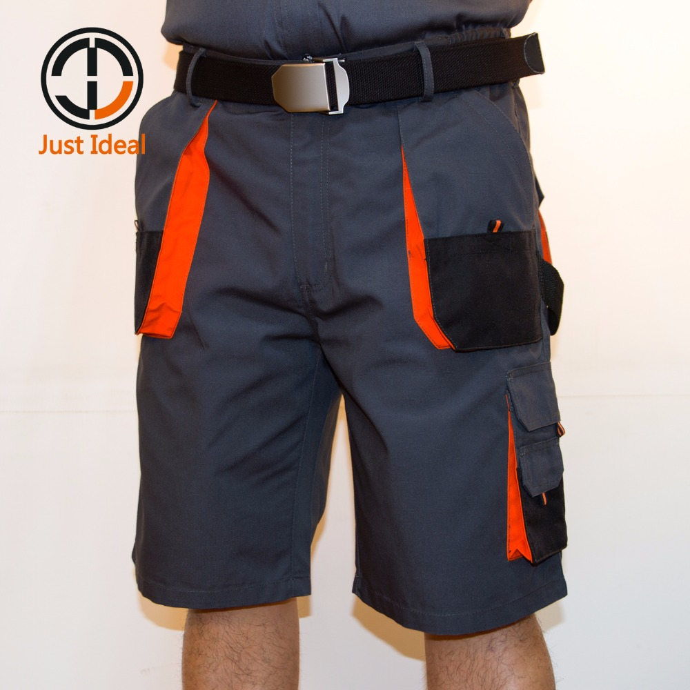 Men Canvas Shorts Multiple Pocket Cargo Short Oxford Hard Wearing Knee Length Brand Clothing Casual Shorts For Men ID701