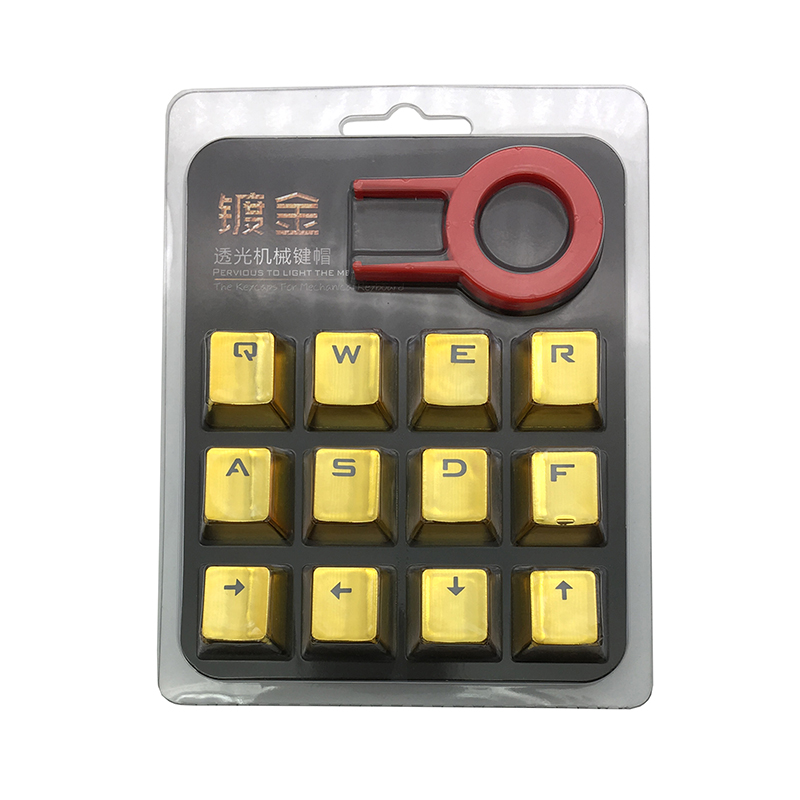 Metalen coating PBT keycaps voor mechanisch toetsenbord Esc DIY 12 - Computerrandapparatuur - Foto 3