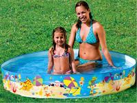 INTEX 56451 PS Free pools inflatable pool bordered pool Children folding pool fishing pond 152 * 25CM