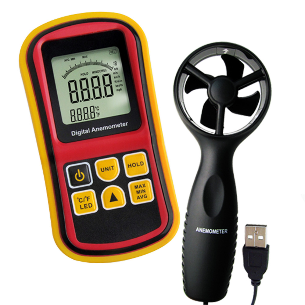 Digital Multifunction Thermo-Anemometer Air Speed Meter Thermometer Temperature 0~45m/s Velocity Beaufort Wind Scale Bar Graph tl 300 digital lcd air temperature anemometer air velocity wind speed meter
