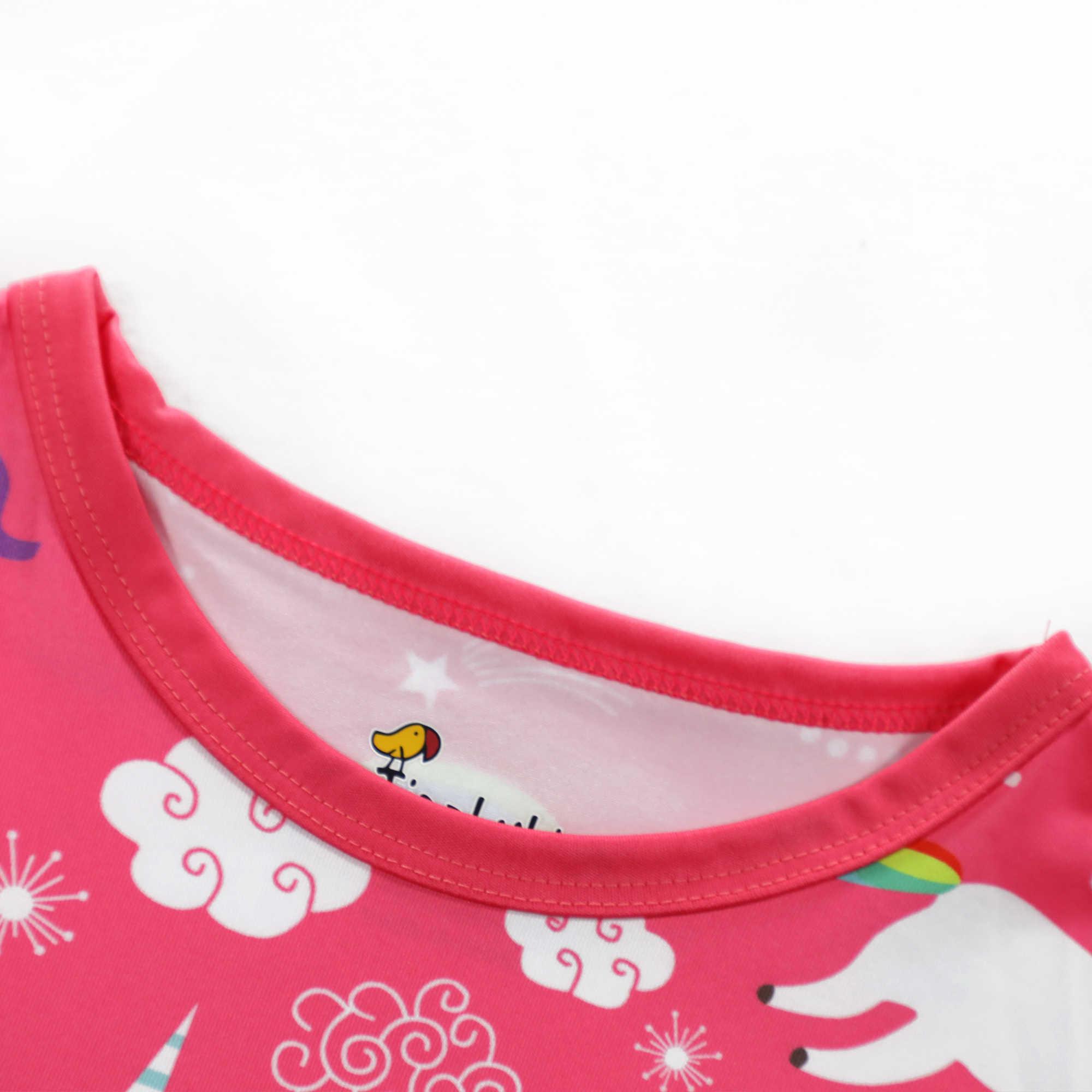 Crianças de Moda de Verão de Manga Curta Robe Fille 8 ans Unicórnio Vestido de Bebê Vestido de Princesa Vestido De Menina Vestidos