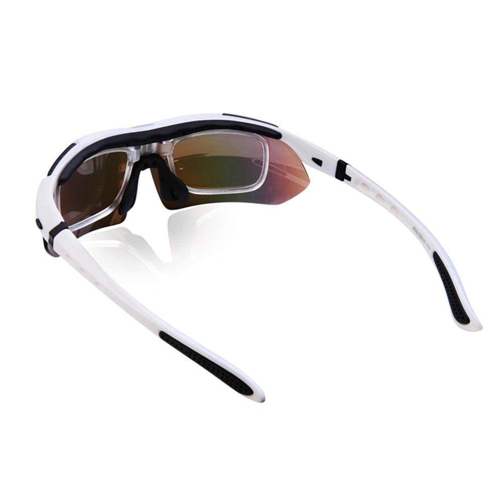 Купить с кэшбэком WOLFBIKE Men Cycling Glasses Eyewear Bicycle Sunglasses 5 Lens UV 400 Sport Mtb Bike Goggles Polarized Cycling Sunglasses
