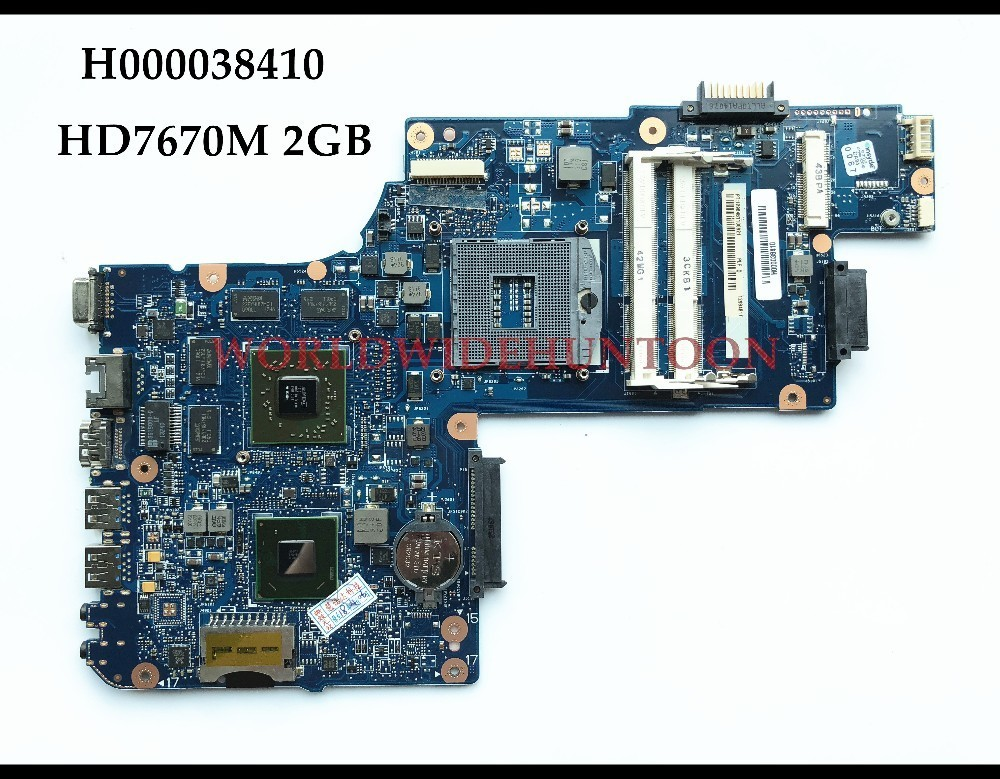 High quality H000038410 FOR Toshiba Satellite C850 L850 laptop motherboard HM76 rPGA988B DDR3 HD7670M 2GB 100% Fully tested