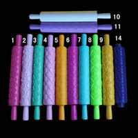 12 design coloré en plastique gaufré texturé à motifs Fondant épingles à pâtisserie décoration de gâteau outils de cuisson