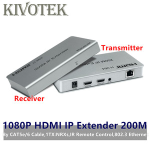 Image 1 - 1080P HDMI Extender Transceiver Adapter200m 1TX: NRXs CAT5e/6 LAN RJ45 kabel Lan Anschluss IR Control Für DVD CCTV Kostenloser Versand